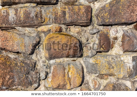 stack of cobble stone with orange backdrop                       Stock photo © Melvin07