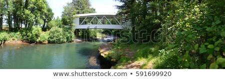 Hannah Covered Bridge Oregon Panorama stock photo © davidgn
