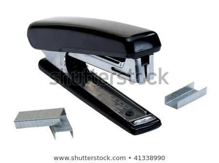 Black stapler and staples to him, isolated  Stock photo © inxti