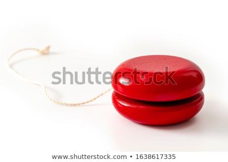 Játék izolált fehér háttér jókedv piros Stock fotó © kitch