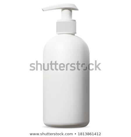 Stockfoto: Hand · zeep · geïsoleerd · witte · palm · badkamer