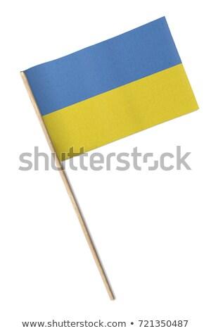Miniatuur vlag Oekraïne geïsoleerd business Stockfoto © bosphorus