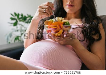 женщину · еды · блюдо · вертикальный · продовольствие - Сток-фото © photography33