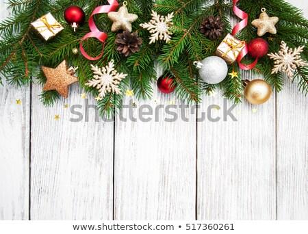 Eski güzel Noel önemsiz şey sarı yalıtılmış Stok fotoğraf © taviphoto