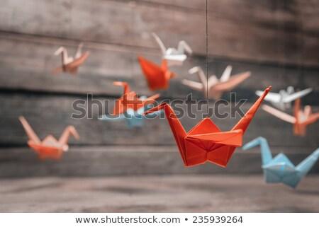 duizend · origami · vrede · wereld · Blauw · Rood - stockfoto © deyangeorgiev