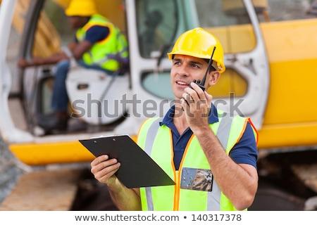 építész · munkavédelmi · sisak · adóvevő · ipar · épület · technológia - stock fotó © photography33