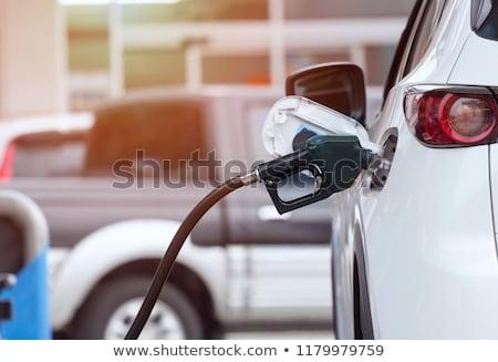 Közelkép benzinpumpa benzinkút absztrakt háttér ipar Stock fotó © wavebreak_media