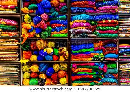 sari on shelves in indian market Stock photo © Mikko