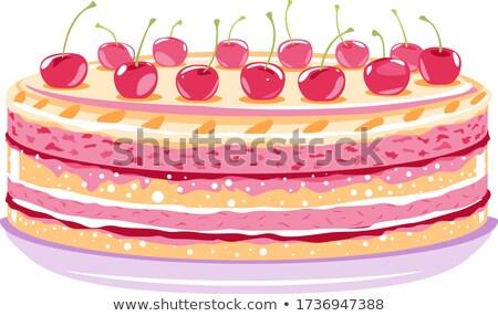 Cherry Dessert Stock photo © bendicks