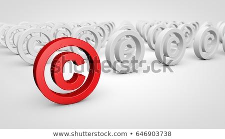 Szerzői jog terv szófelhő háttér piac média Stock fotó © tashatuvango