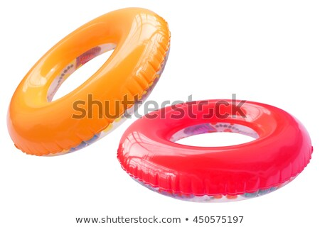 Pink inflatable raft isolated on white background Stock photo © shutswis