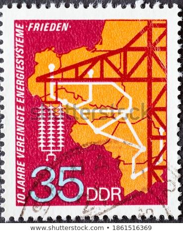 пост штампа 1980 напечатанный Германия изображение Сток-фото © Taigi