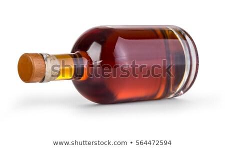 şişe içki mavi etiket yalıtılmış Stok fotoğraf © winterling