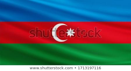 Tejido textura bandera Azerbaiyán azul arco Foto stock © maxmitzu