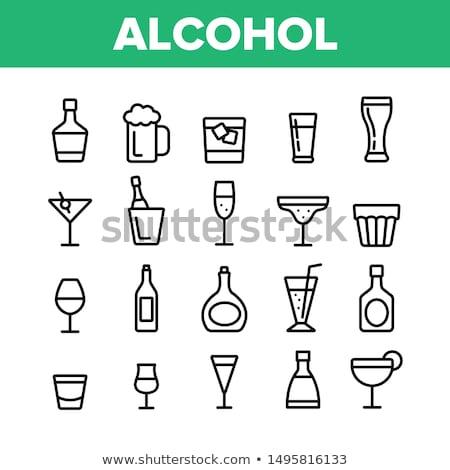 Glas brandewijn dranken eps10 transparant objecten Stockfoto © LoopAll