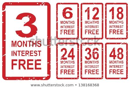 Hónapok szabad piros pecsét vektor üzlet Stock fotó © THP