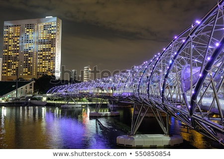 Stock photo: Helix Bridge at night