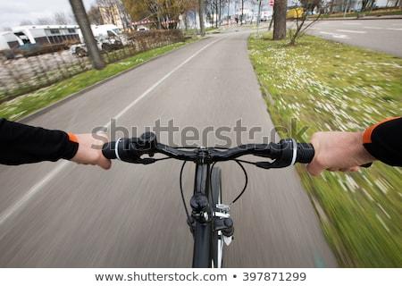 Ciudad bicicleta cesta anillo moderna aislado Foto stock © blasbike