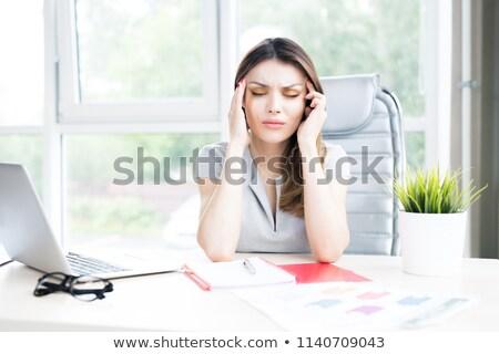 üzletasszony · túlhajszolt · iroda · izolált · fehér · üzlet - stock fotó © wavebreak_media