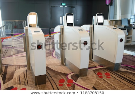 E-gate at airport (boarding pass scanners) Stock photo © ifeelstock