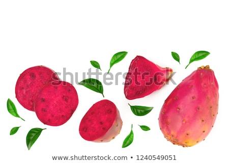 slices of prickly pear isolated on white  Stock photo © tetkoren