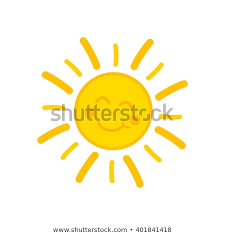 Citromsárga nap mosolyog arc vektor mosoly Stock fotó © LoopAll