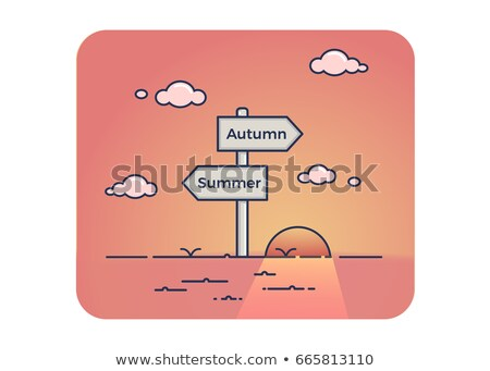 Summer or autumn opposite signs Stock photo © stevanovicigor