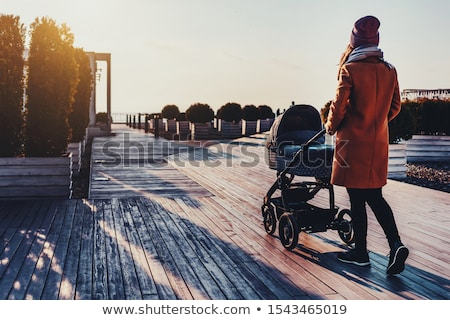 Mother with baby stroller for a newborn Stock photo © Andersonrise