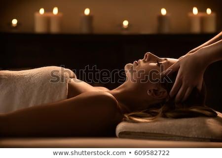 женщину голову массаж Spa рук Сток-фото © Kzenon