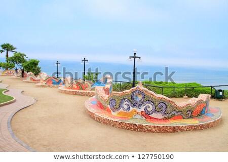 Lima Peru sevmek park çiçek çim Stok fotoğraf © pxhidalgo