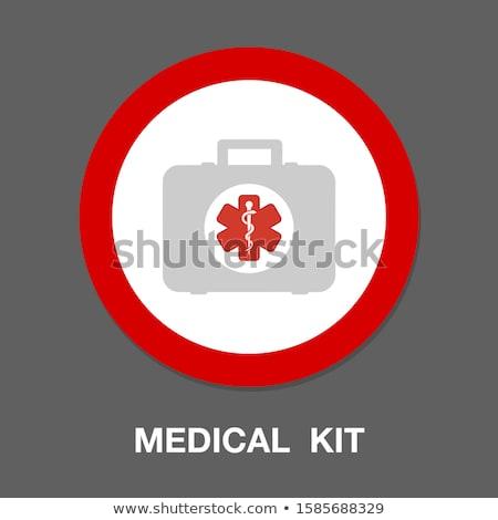 Foto stock: Ilustração · médicos · pasta · médico · medicina · saco