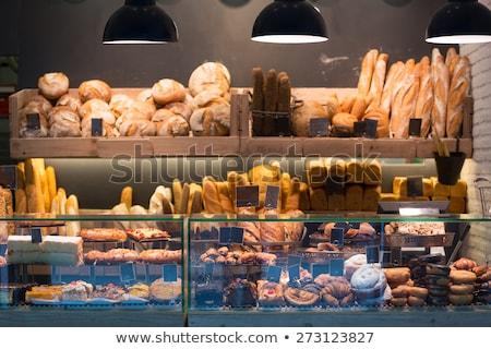 Pan stand panadería alimentos mercado torta Foto stock © Catuncia