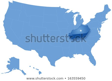 Map of States of the United States where Kentucky is pulled out Stock photo © Istanbul2009
