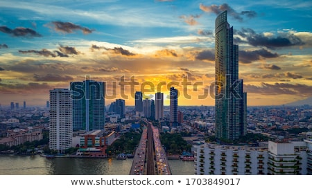view over bangkok by night stock photo © meinzahn