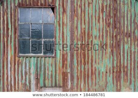 коричневый · зеленый · старые · ржавчины · металл · пластина - Сток-фото © pavelkozlovsky