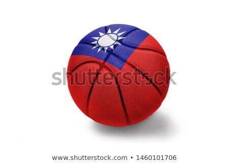 Basketbol top Tayvan bayrak beyaz eps Stok fotoğraf © Istanbul2009