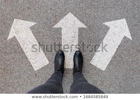 difícil · opciones · empresario · confundirse · mirando · pared - foto stock © lightsource