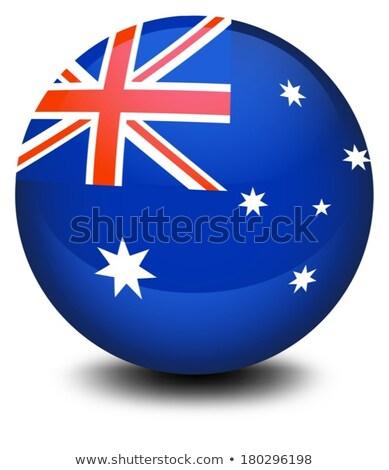 サッカーボール · オーストラリア · フラグ · ピッチ · サッカー · 世界 - ストックフォト © daboost
