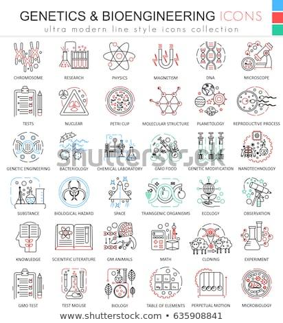 Biotecnología iconos signos tecnología fondo signo Foto stock © Yuriy