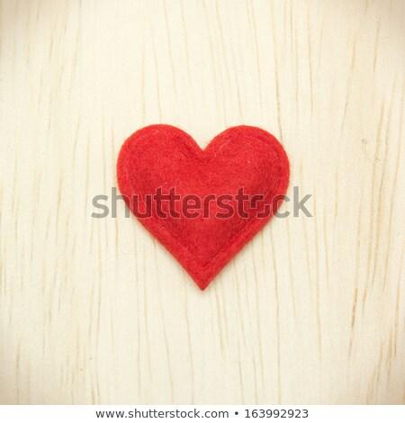 Homemade Heart Felt Valentines Stock photo © songbird