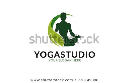 Logo yoga fitness centrum gezondheid schoonheid Stockfoto © shawlinmohd