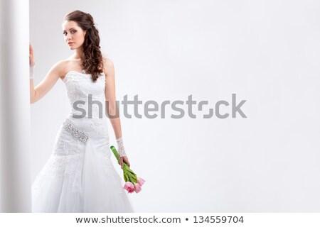 mode · model · bruid · jurk - stockfoto © amok