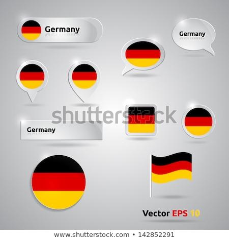 Banderą papieru kółko cień przycisk Niemcy Zdjęcia stock © gubh83