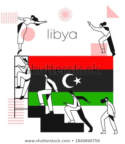Libya flag themes idea design Stock photo © kiddaikiddee