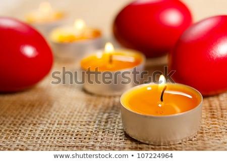 свечу три красный яйца яйцо Сток-фото © jaycriss
