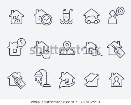 Vetor casa clique abstrato casa tecnologia Foto stock © nickylarson974