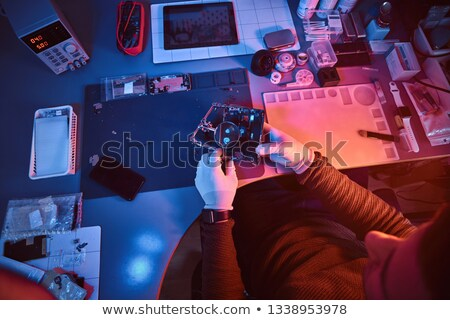 inspection and repair of electronics Stock photo © OleksandrO