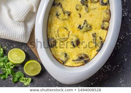 Délicieux champignons noir couteau alimentaire fromages Photo stock © cypher0x