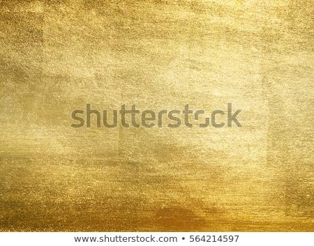 Złota metaliczny projektu metal sztuki żółty Zdjęcia stock © olgaaltunina