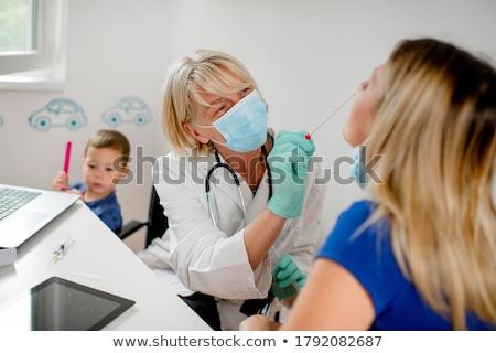 Doktor kadın tıbbi şırınga genç kadın Stok fotoğraf © EwaStudio